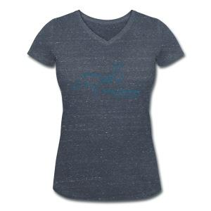 Front: MPS Rider  V-Shirt (Print Petrol) - Frauen Bio-T-Shirt mit V-Ausschnitt von Stanley & Stella