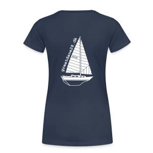 GD28 Ladies' Navy Blue T-Shirt - Women's Premium T-Shirt