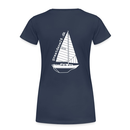 GD28 Ladies' Navy Blue T-Shirt - Women's Premium T-Shirt
