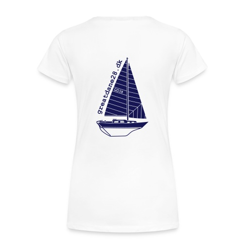 GD28 Ladies' White T-Shirt - Women's Premium T-Shirt