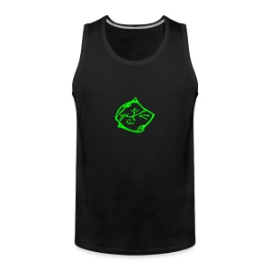 Front & Back: Free RIder, Tank Top ( Print Neon Green)) - Männer Premium Tank Top