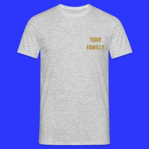 TEE SHIRT TEAM FAMILLY COULEUR OR  - T-shirt Homme
