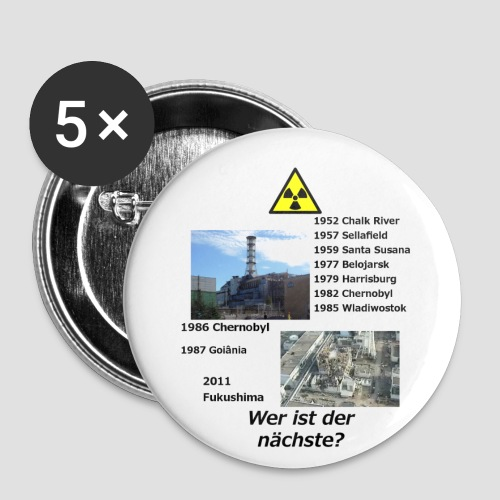 no nuclear button (German) Wer ist der Nächste? - Buttons small 25 mm