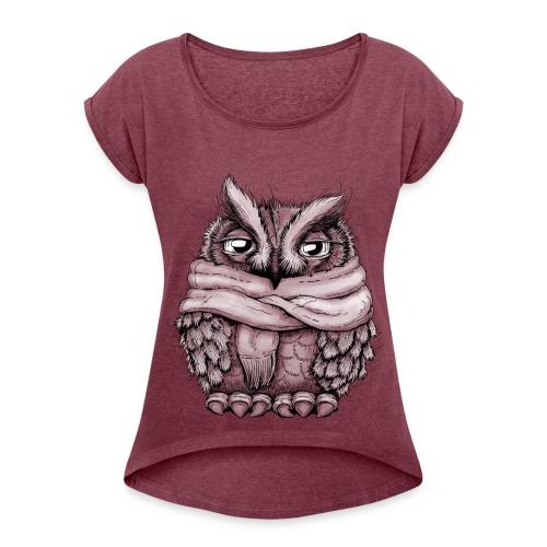 Freezing Owl - T-shirt à manches retroussées Femme