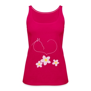 Flowers & Horseheart, Women Tank Top (Print:Digital Petrol/Rosé) - Frauen Premium Tank Top