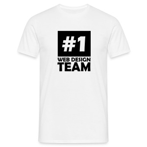 number one web design team T-Shirts - Men's T-Shirt