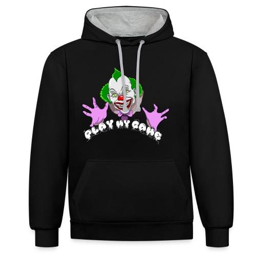 Creepy Clown - Play My Game Hoodie - Kontrast-Hoodie