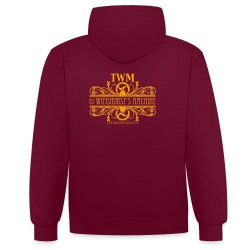 TWM Hoodie Sweatshirt - Felpa con cappuccio bicromatica