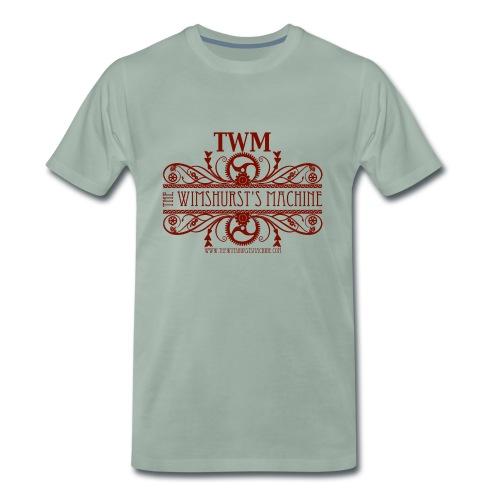 TWM Premium T-shirt Bourgogne Logo - Maglietta Premium da uomo