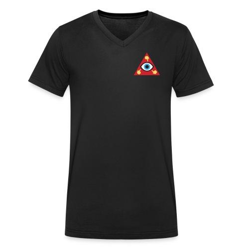 LEGLOCK DEVIL LOGO SMALL - Ekologisk T-shirt med V-ringning herr från Stanley & Stella