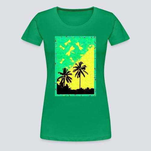 Tropic Dragonfly - Women - Women's Premium T-Shirt