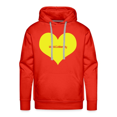 WetWildWendy LOVE T-shirt (RED) - Men's Premium Hoodie