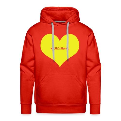 WetWildWendy LOVE T-shirt (RED) - Men's Premium Hoodie