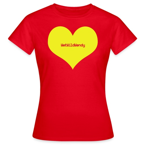 WetWildWendy LOVE T-shirt (RED) - Women's T-Shirt