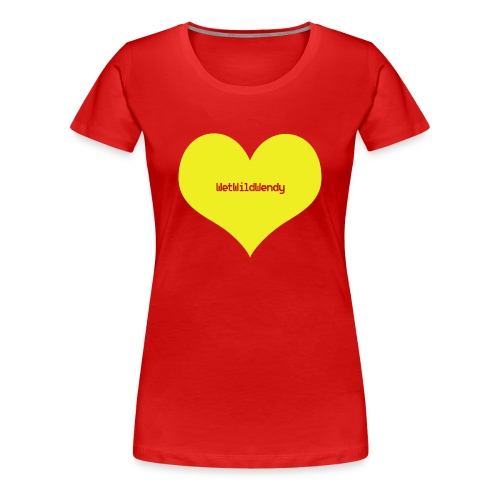 WetWildWendy LOVE T-Shirt (RED) - Women's Premium T-Shirt