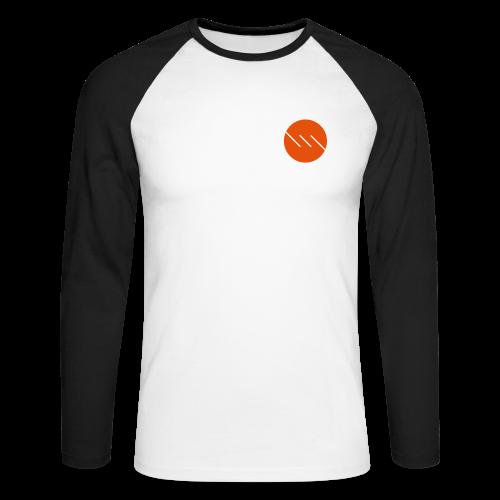 Dot | Raglan | Orange-Black - Men's Long Sleeve Baseball T-Shirt