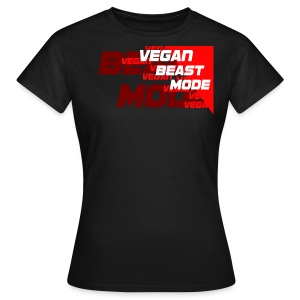 Vegan Beast Mode [red] - Frauen T-Shirt