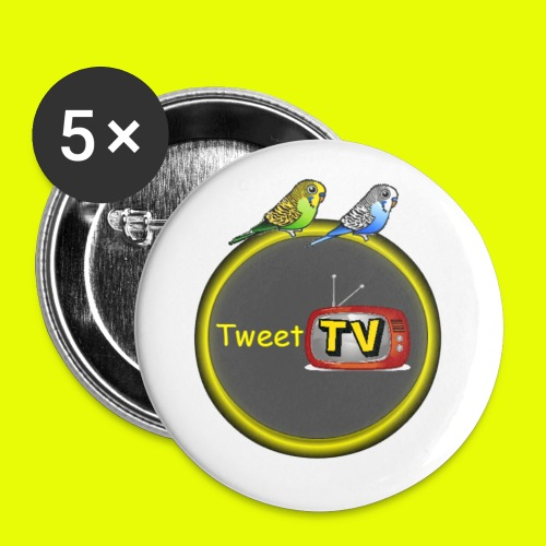 TweetTv buttons (er zitten 5 buttons in het hele pak) - Buttons groot 56 mm