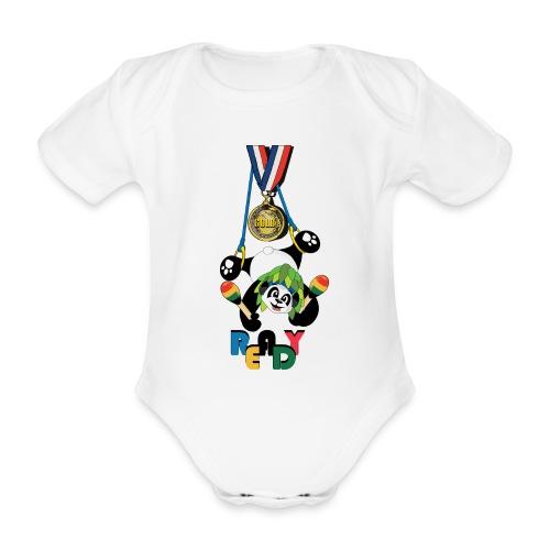 panda Jeux été - Body bébé bio manches courtes
