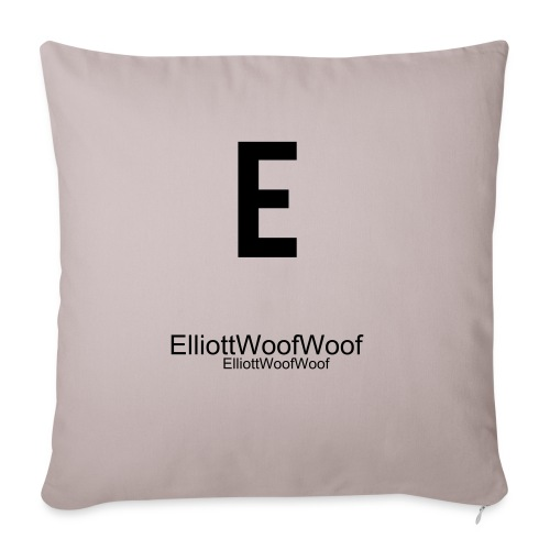ElliottWoofWoof Pillow Grey - Sofa pillow cover 44 x 44 cm