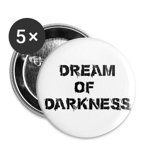 Dream of Darkness Button 56mm - Buttons groß 56 mm (5er Pack)