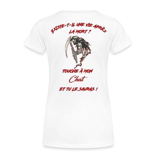 Ne touche pas à mon chat  - T-shirt Premium Femme