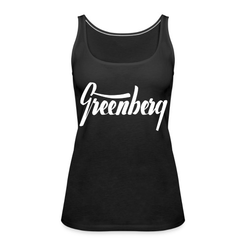 GREENBERG // Women's Tank Top // Black - Frauen Premium Tank Top