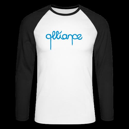 Dripping | Raglan | Blue-Black - Men's Long Sleeve Baseball T-Shirt