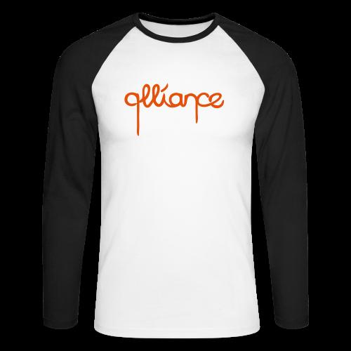 Dripping | Raglan | Orange-Black - Men's Long Sleeve Baseball T-Shirt