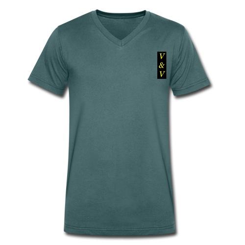 Koszulka męska Canvas z dekoltem w serek V&V - Ekologiczna koszulka męska z dekoltem w serek Stanley & Stella