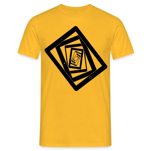 Lost in Resolution Yellow - Men's T-Shirt