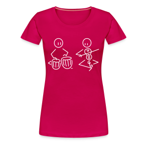 Duo tabla / Indian violin - Women's Premium T-Shirt