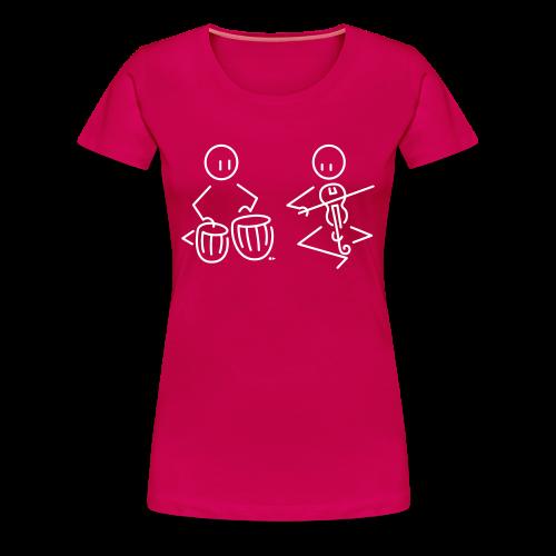 Duo tabla / Indian violin - Women's Premium T-Shirt