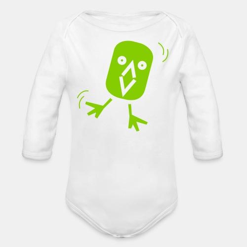 Strampler Langarm GRÜN - Baby Bio-Langarm-Body