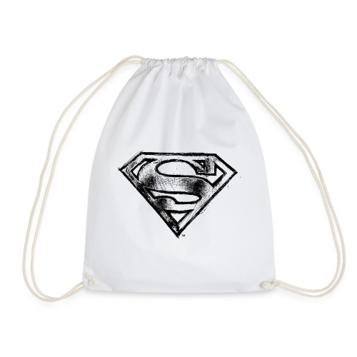Superman S-Shield Logo black and white - Turnbeutel