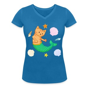 MerCat Women's V- Neck - Women's V-Neck T-Shirt