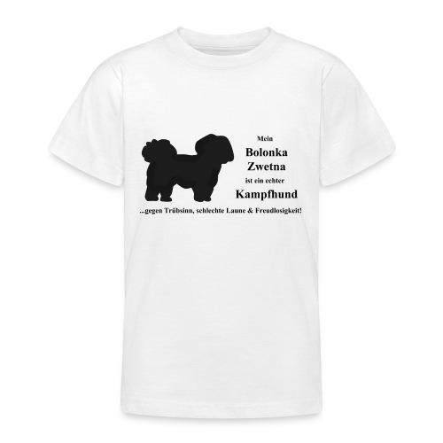 Bolonka Zwetna mit schwarzer Schrift Kinder-Shirts - Teenager T-Shirt