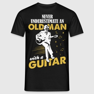 Never Underestimate An Old Man With A Guitar T-Shirts - Men's T-Shirt