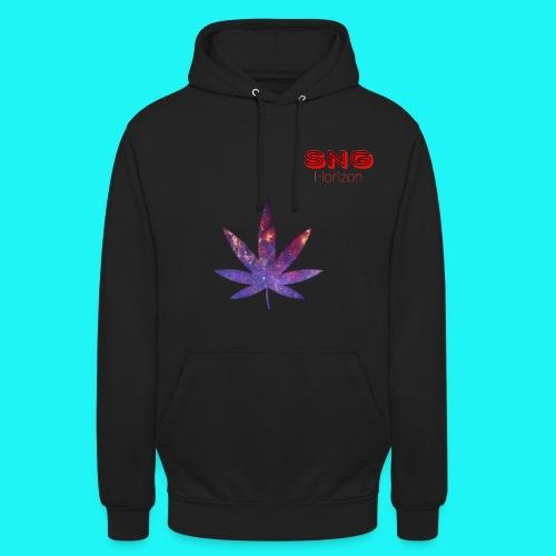 Purple Weed Jet Black Hoodie - Unisex Hoodie