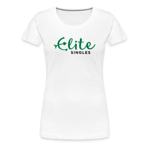 EliteSingles White Girlie - Frauen Premium T-Shirt