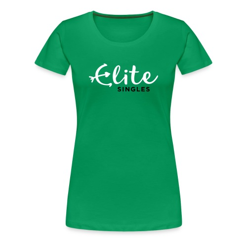 EliteSingles Green Girlie - Frauen Premium T-Shirt