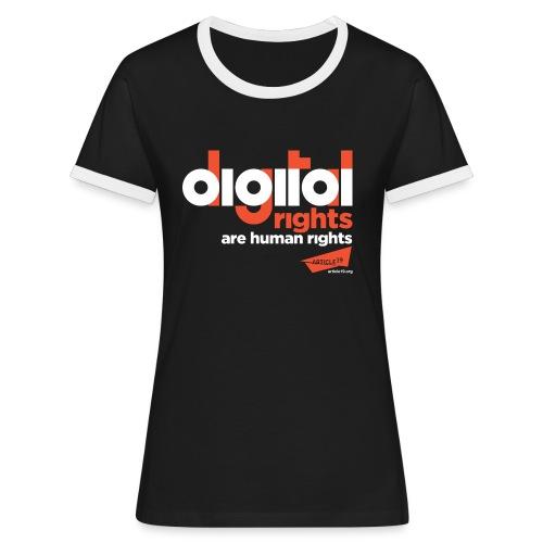 Women Contrast Digital Rights - Women's Ringer T-Shirt