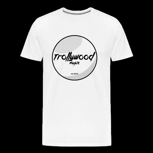 TrollywoodMusiX | Black Transparent Logo | Shirt  - Männer Premium T-Shirt