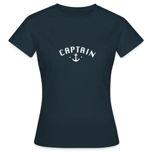 Captain T-Shirt mit Anker - Frauen T-Shirt