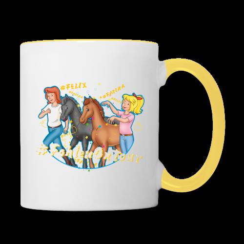 Bibi und Tina 'Ponyflüsterer mit Fatima und Felix' - Tasse zweifarbig