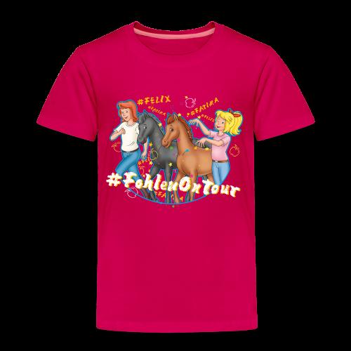 Bibi und Tina 'Ponyflüsterer mit Fatima und Felix' - Kinder Premium T-Shirt