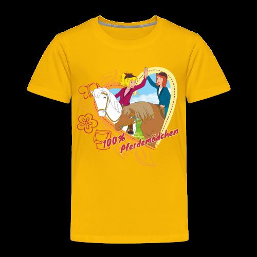 Bibi und Tina '100% Pferdemädchen' - Kinder Premium T-Shirt