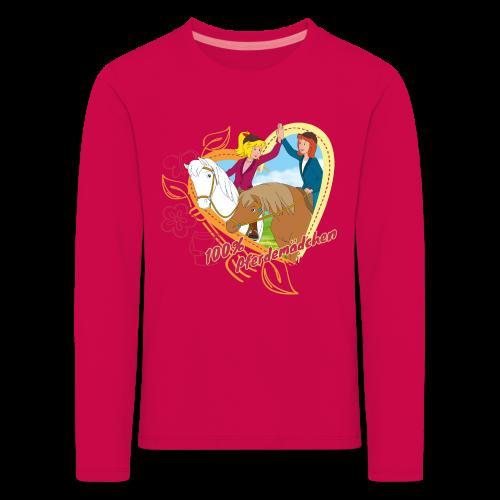 Bibi und Tina '100% Pferdemädchen' - Kinder Premium Langarmshirt