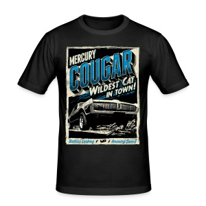 Cougar / Blau / Slim Fit T-Shirt - Männer Slim Fit T-Shirt