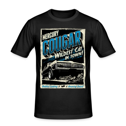 Cougar / Blau / Slim Fit T-Shirt - Männer Slim Fit T-Shirt